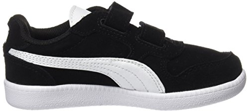 Puma Unisex-Kinder Icra Trainer SD V PS Sneaker, Schwarz Black-White, 34 EU - 6