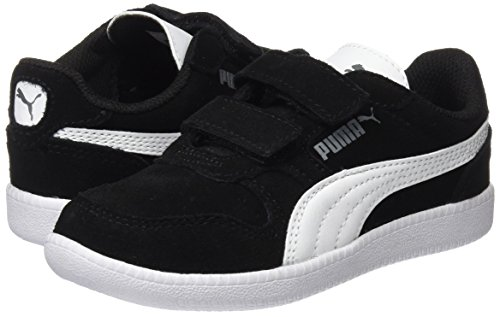 Puma Unisex-Kinder Icra Trainer SD V PS Sneaker, Schwarz Black-White, 34 EU - 7
