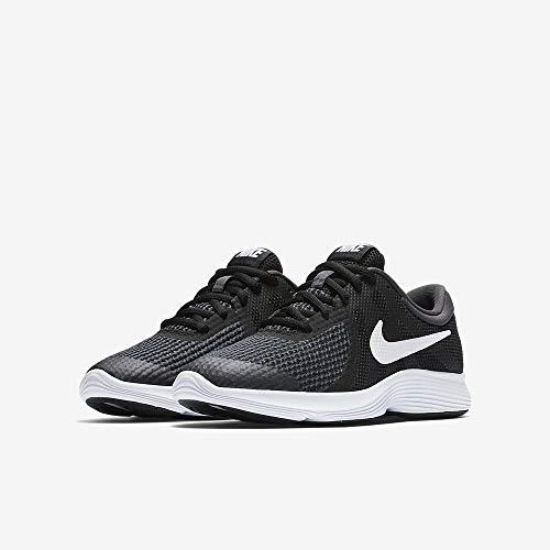 Nike Unisex-Kinder Laufschuh Revolution 4, Schwarz - 9