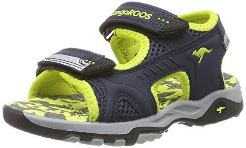 KangaROOS Unisex-Kinder Sinclair II Sandalen, Blau-Gelb