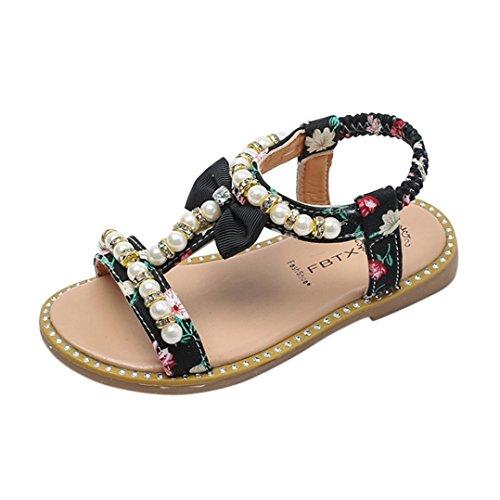 Mädchen Sandalen mit Bowknot Perlenkristall