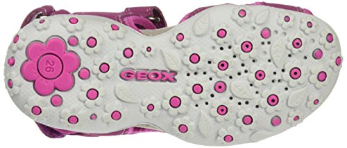 Geox Mädchen Jr Offene Sandalen Roxanne A, Pink (DK FUCHSIAC8321), 29 EU - 4