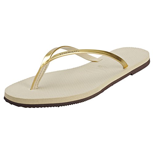 Havaianas Damen You Metallic Zehentrenner, Gold