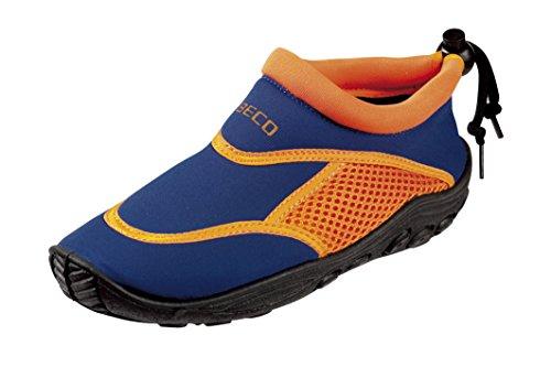 BECO Badeschuhe, Surfschuhe für Kinder,  blau, orange