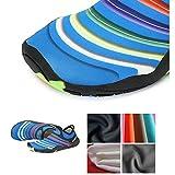 SAGUARO Kinder Badeschuhe Aquaschuhe Schwimmschuhe Wasserschuhe Strandschuhe Water Shoes für Jungen Mädchen, Grün 30 - 3