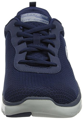 Skechers Herren Flex Advantage 2.0-Dayshow Sneaker, Blau (Navy), 44 EU - 2
