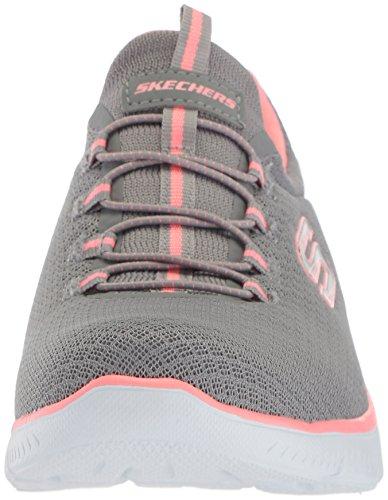 Skechers Damen Summits Sneaker, Grau (Grey/Pink), 39 EU - 2