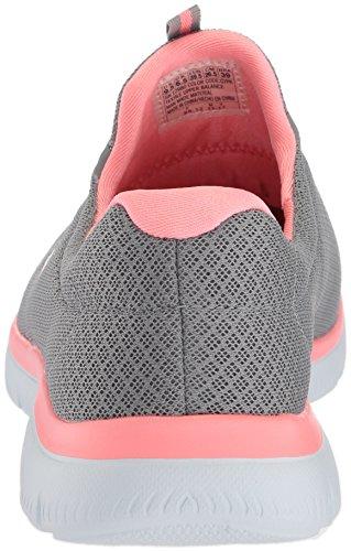 Skechers Damen Summits Sneaker, Grau (Grey/Pink), 39 EU - 3