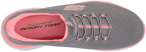 Skechers Damen Summits Sneaker, Grau (Grey/Pink), 39 EU - 5