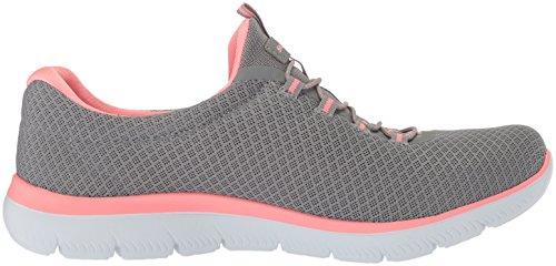 Skechers Damen Summits Sneaker, Grau - 5