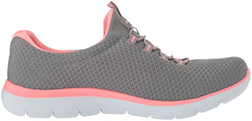 Skechers Damen Summits Sneaker, Grau (Grey/Pink), 39 EU - 6