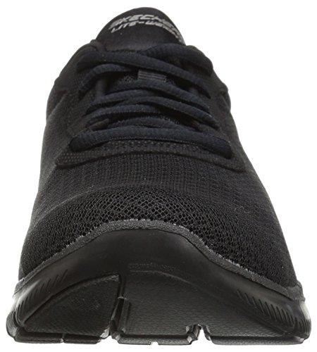 Skechers Damen Flex Appeal 2.0-Newsmaker Sneaker, Schwarz (Schwarz), 39.5 EU - 2