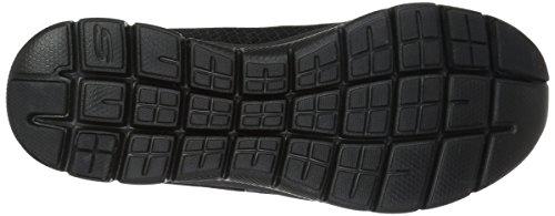 Skechers Damen Flex Appeal 2.0-Newsmaker Sneaker, Schwarz (Schwarz), 39.5 EU - 4