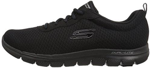 Skechers Damen Flex Appeal 2.0-Newsmaker Sneaker, Schwarz (Schwarz), 39.5 EU - 8