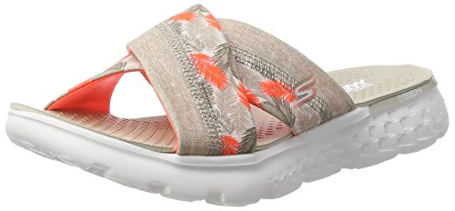 Skechers Damen on-The-Go 400-Tropical Sandalen, Grau