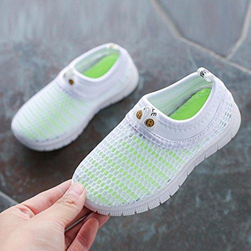 FNKDOR Mesh Schuhe für Kinder Jungen Mädchen Geschlossene Sandalen Atmungsaktiv Outdoorsandalen Sommer Strand Wasserschuhe Badeschuhe(27.5,Weiß) - 2