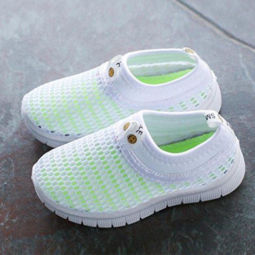 FNKDOR Mesh Schuhe für Kinder Jungen Mädchen Geschlossene Sandalen Atmungsaktiv Outdoorsandalen Sommer Strand Wasserschuhe Badeschuhe(27.5,Weiß) - 4