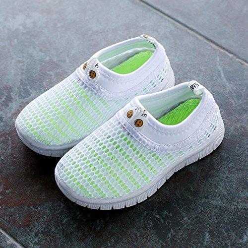 FNKDOR Mesh Schuhe für Kinder Jungen Mädchen Geschlossene Sandalen Atmungsaktiv Outdoorsandalen Sommer Strand Wasserschuhe Badeschuhe(27.5,Weiß) - 5