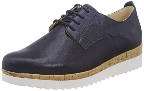 Gabor Shoes Damen Comfort Sport Derbys, Blau