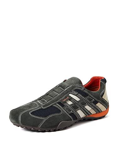 Geox UOMO SNAKE L, Herren Sneakers, Grau
