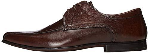 FIND Derby Schuhe aus Leder mit Dekorativen Nähten, Braun