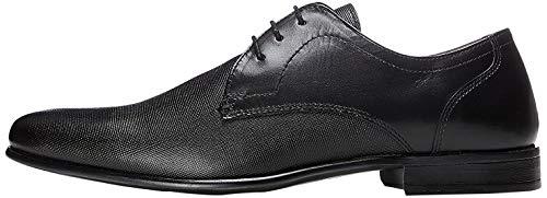 FIND Derby Schuhe Herren mit Blockabsatz, Schwarz