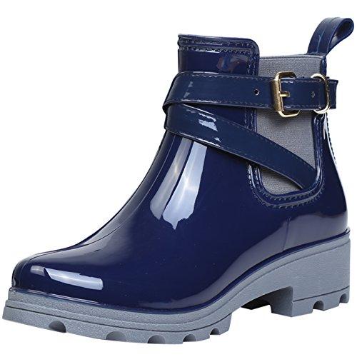 Chelsea Boots Gummistiefel, Blau