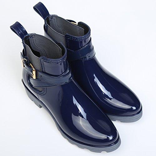 Chelsea Boots Gummistiefel, Blau - 3