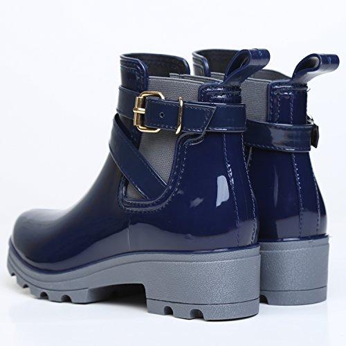 Chelsea Boots Gummistiefel, Blau - 5