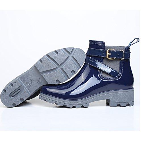 Chelsea Boots Gummistiefel, Blau - 4