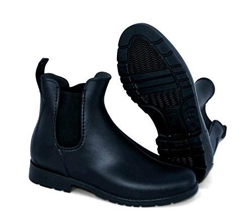 PVC Stiefelette Cardiff schwarz, Elastikeinsatz Stiefeletten für Erwachsene PVC Stiefelette, Jodhpurstiefelette, Reitstiefelette, PVC Reitstiefelette, Halbstiefel, Rubber Boots, Größe 41, Farbe Schwarz - 2