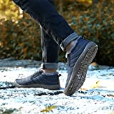 SAGUARO Herren Damen Winterschuhe Warm Gefütterte Boots Stiefelette Outdoor Waterproof Schneestiefel,Low Top Blau,40 EU - 7
