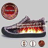 SAGUARO Herren Damen Winterschuhe Warm Gefüttert Winter Stiefel Kurz Schnür Boots Schneestiefel Outdoor Freizeit Schuhe,Schwarz 46 - 3