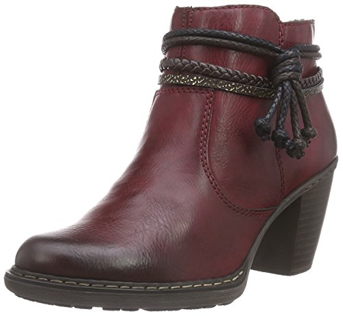 Rieker Damen Kurzschaft Stiefel, Rot