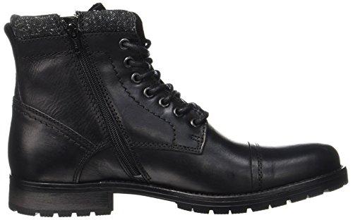 JACK & JONES Herren Jfwmarly Leather Stiefel, Schwarz - 5