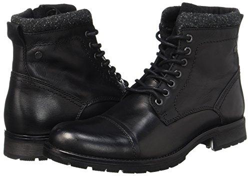 JACK & JONES Herren Jfwmarly Leather Stiefel, Schwarz - 6