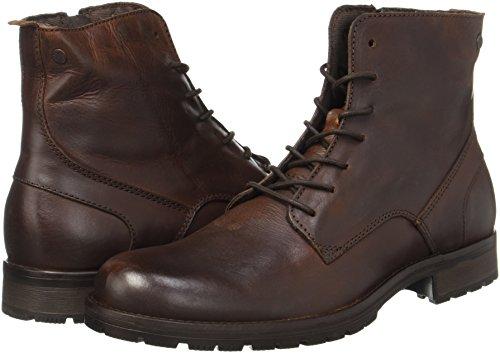 JACK & JONES Jfworca Leather Brown Stone Stiefel - 4