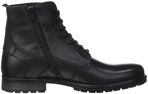JACK & JONES Herren Jfworca Leather Stiefel, Schwarz - 6