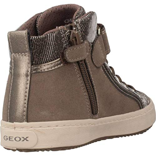 Geox Mädchen J Kalispera Girl I Hohe Sneaker, (Dk Beige), 31 EU - 3
