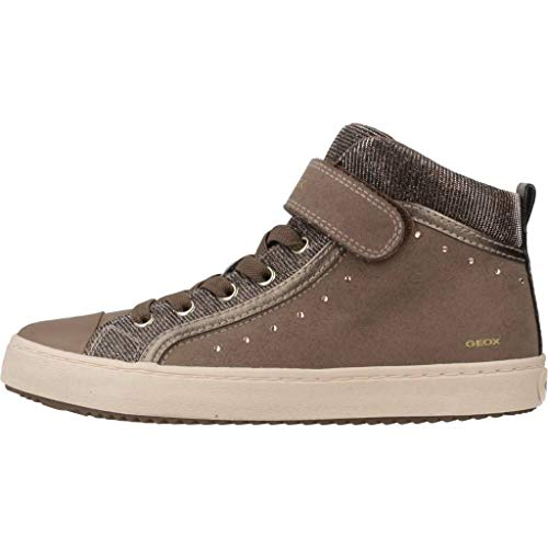 Geox Mädchen J Kalispera Girl I Hohe Sneaker, (Dk Beige), 31 EU - 4