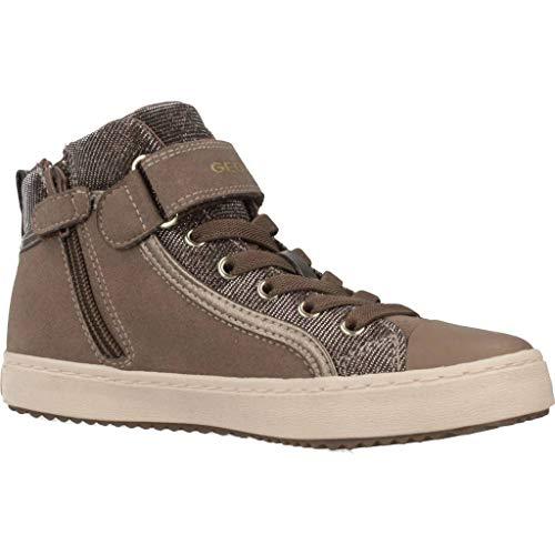 Geox Mädchen J Kalispera Girl I Hohe Sneaker, (Dk Beige), 31 EU - 6