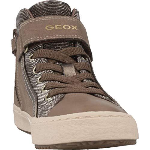 Geox Mädchen J Kalispera Girl I Hohe Sneaker, (Dk Beige), 31 EU - 7