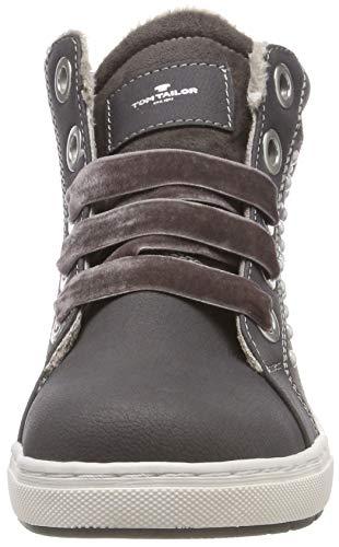 TOM TAILOR Mädchen 5871907 Hohe Sneaker, Grau (Coal 00013), 38 EU - 2