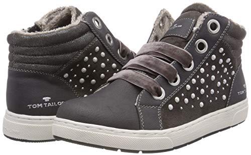 TOM TAILOR Mädchen 5871907 Hohe Sneaker, Grau (Coal 00013), 38 EU - 3