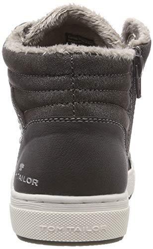 TOM TAILOR Mädchen 5871907 Hohe Sneaker, Grau (Coal 00013), 38 EU - 5
