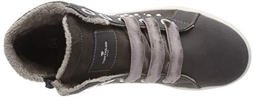 TOM TAILOR Mädchen 5871907 Hohe Sneaker, Grau (Coal 00013), 38 EU - 6