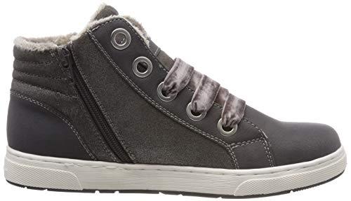 TOM TAILOR Mädchen 5871907 Hohe Sneaker, Grau (Coal 00013), 38 EU - 7