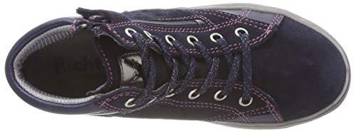 Richter Kinderschuhe Mädchen Blinki (Ilva) Hohe Sneaker, Blau (Atlantic/Candy 7201), 31 EU - 5