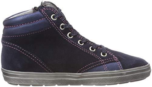 Richter Kinderschuhe Mädchen Blinki (Ilva) Hohe Sneaker, Blau (Atlantic/Candy 7201), 31 EU - 7