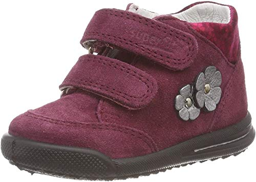 Superfit Baby Mädchen Avrile Mini Sneaker, Rot (Rot 50), 26 EU - 2